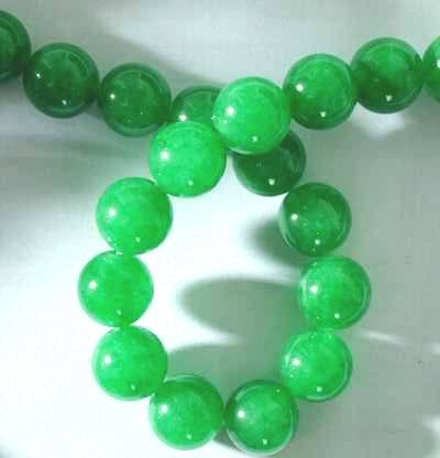 Lush Green Chinese Jade Beads - 6mm or 8mm
