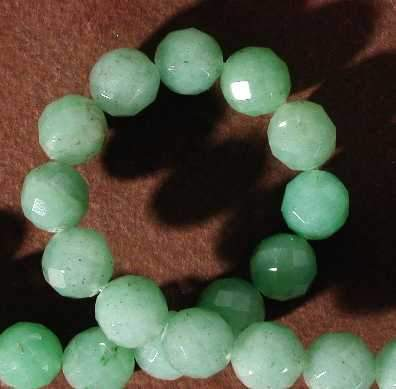 Beautiful 10mm Faceted Aventurine Bead Strand