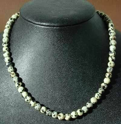 Beautiful Dalmatian Jasper Bead Necklace