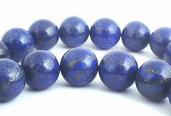 Rich Blue Lapis Lazuli Beads - 4mm, 6mm or 8mm