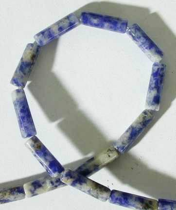 Refreshing Sodalite Tube Bead