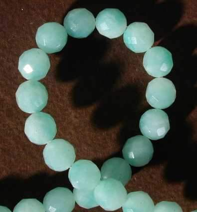 Faceted Sea-Green Amazonite Beads - 8mm or 10mm