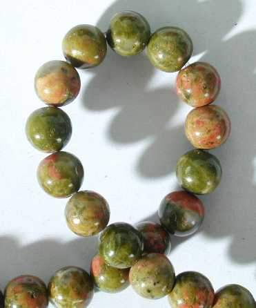 6mm Unakite Bead String