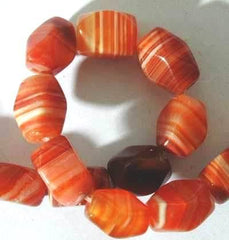 Lucky Faceted Sardonyx Agate 12mm Beads
