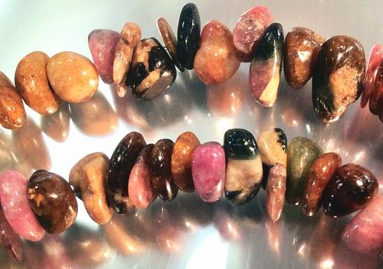 122 Watermelon Tourmaline Small Nugget Beads
