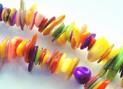 Large Colourful Mother-Of-Pearl Shell Chip Beads