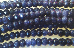 Beautiful Faceted Blue-Violet Iolite Crystal Beads