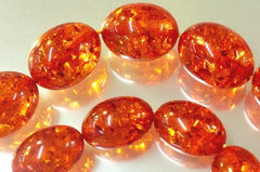 Distinctive Brandy Amber Barrel Beads