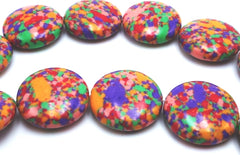 Dazzling Colourful Calsilica Button Bead String