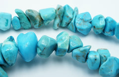 Stunning Blue Turquoise Chip Bead String