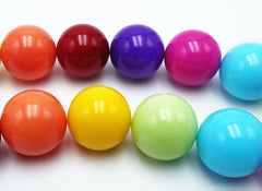 Super Shiny Rainbow Glass Bead String - 6mm or 14mm