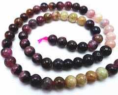 Beautiful 5mm Natural Tourmaline Bead String