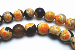 Lovely Bumble Bee Agate Bead String