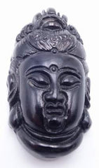 Finely Crafted Black Onyx Carved Buddha Pendant