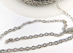 Stylish Small Chrome Belcher  Chain - 2mm Links
