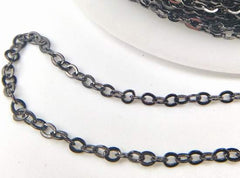 Delicate Small Black Belcher  Chain - 2mm Links