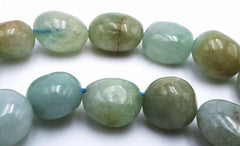 Exquisite Free Form Small Aqua Green Aquamarine Nuggets Beads