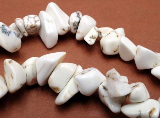 Beautiful Bone White Turquoise Chips Nuggets Beads