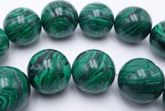 Huge 14mm Forest Green Calsilica Beads