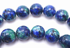 Alluring 8mm Azurite Malachite Chrysocolla Beads