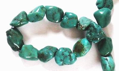 Large Irresistable Chinese Turquoise Nugget Beads