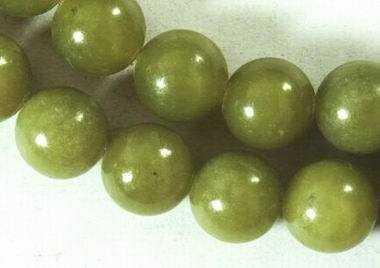 Rich Olive-Green Taiwan Jade Bead Strand -4mm, 8mm or 10mm