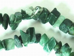 Long Forest-Green Jade Chip Bead String