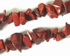 Long Deep-Red Jasper Chip Bead String