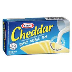 Kraft Cheddar Processed Cheese - 250g - Lanka Basket