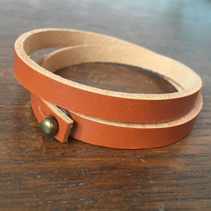Armband in leer