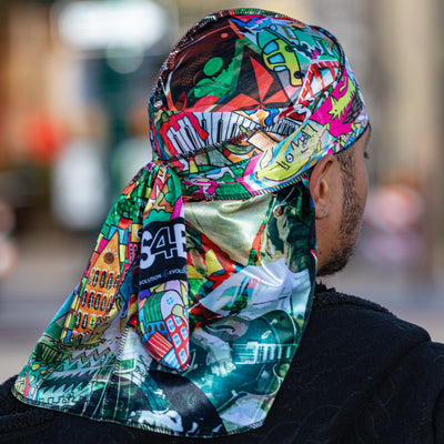 Buy Silk Designer Durags World Music satin durag - Solution4evolution.com