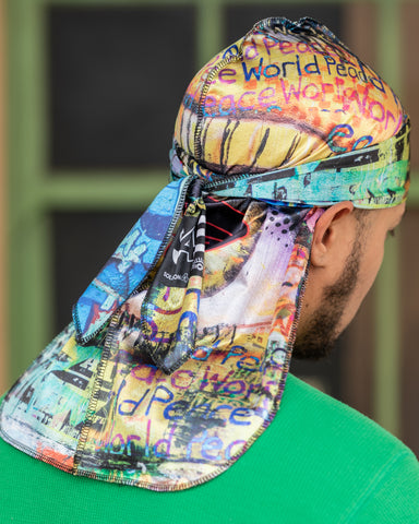 Buy Silk Designer Durags World Peace satin durag. - Solution4evolution.com