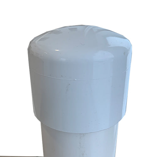 WHITE CAP FOR PVC SLEEVE 3-1/2""