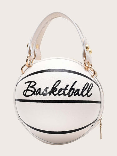 BasketBall Shaped Bag White