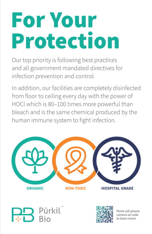 Purkil Bio™  Infection Protection Placard