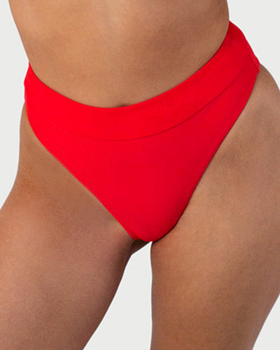 High Leg Brief - Red