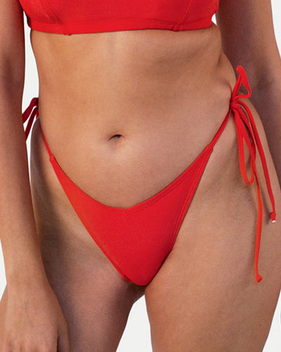 Cheeky Tie Side Brief - Red