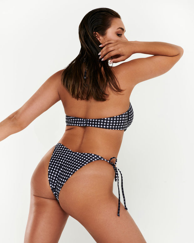 Cheeky Tie Side Brief - Gingham
