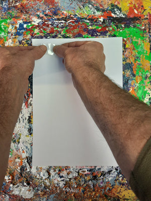 Phil Ironside, A Painting A Day, Positioning the folded tape.