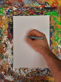 Phil Ironside, A Painting A Day, signing the back
