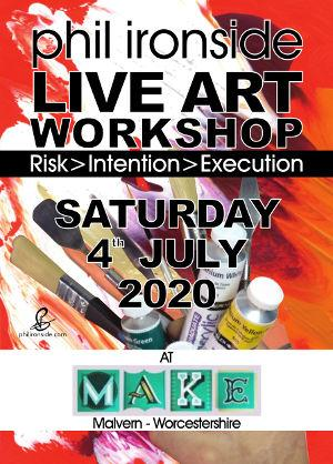 Live Art Workshop No-05 on Sat 4th July - All materials included