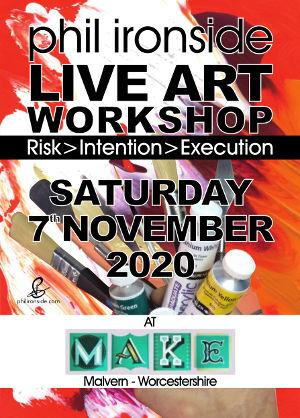 Live Art Workshop No-09 on Sat 7th November2020 - All materials included