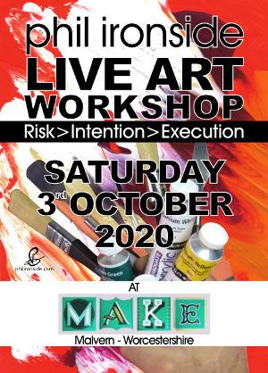Live Art Workshop No-08 on Sat 3rd October 2020 - All materials included