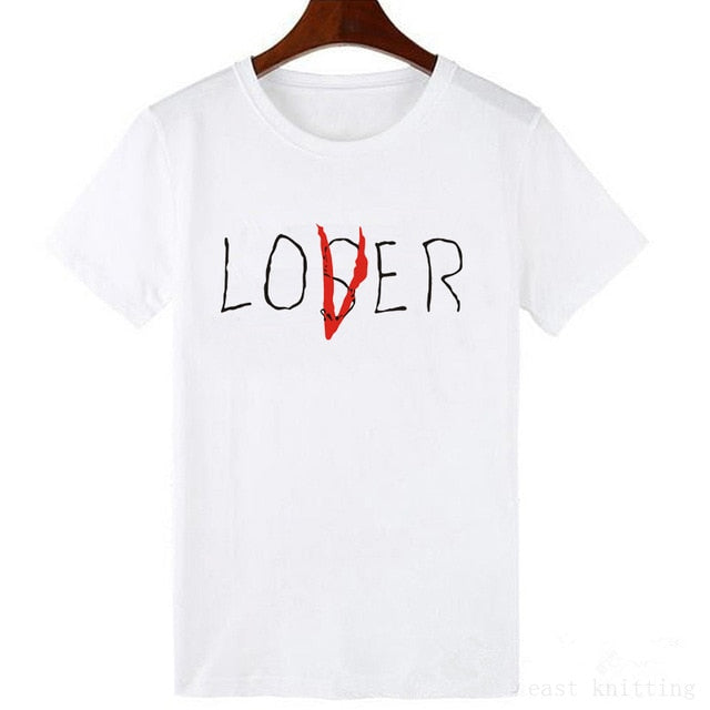 Women Summer Fashion T shirt Unisex Casual Short Sleeve Loser Lover It Inspired T-Shirt Tops