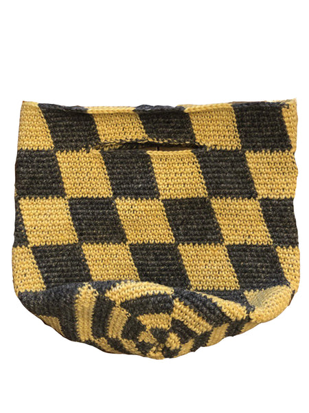 Land and Sea Basket / CharcoalGrey&Yellow