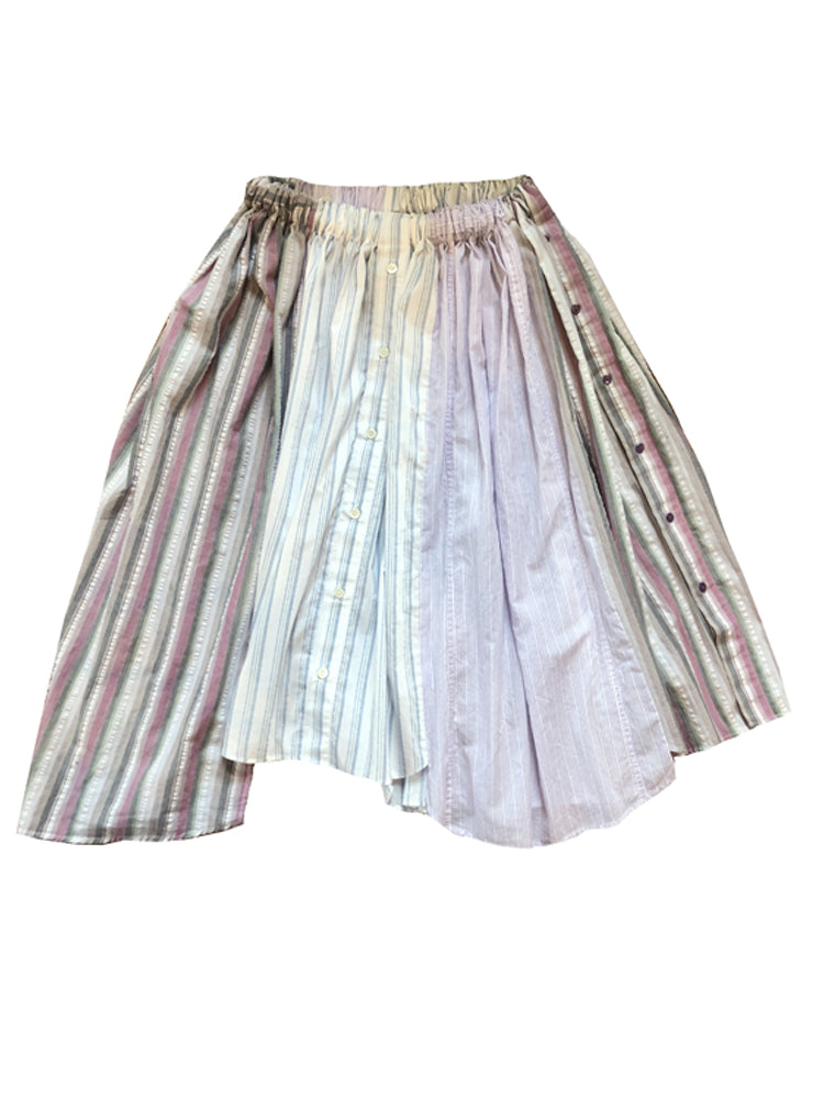 PATCHWORK STRIPES SKIRT