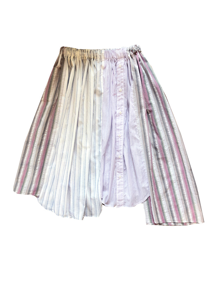 Load image into Gallery viewer, PATCHWORK STRIPES SKIRT
