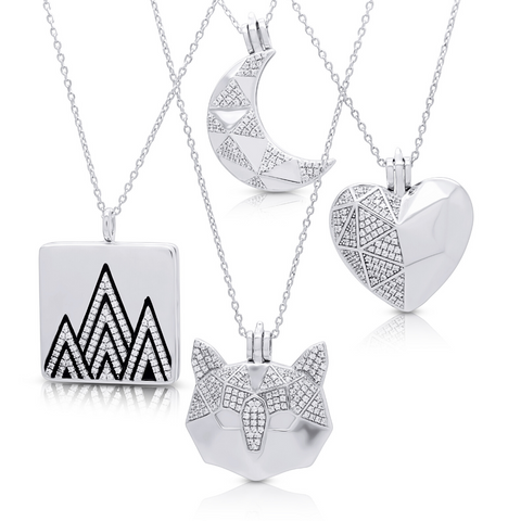 Silverissimo Collection Sterling Silver 925 and Swarovski Stones Lockets