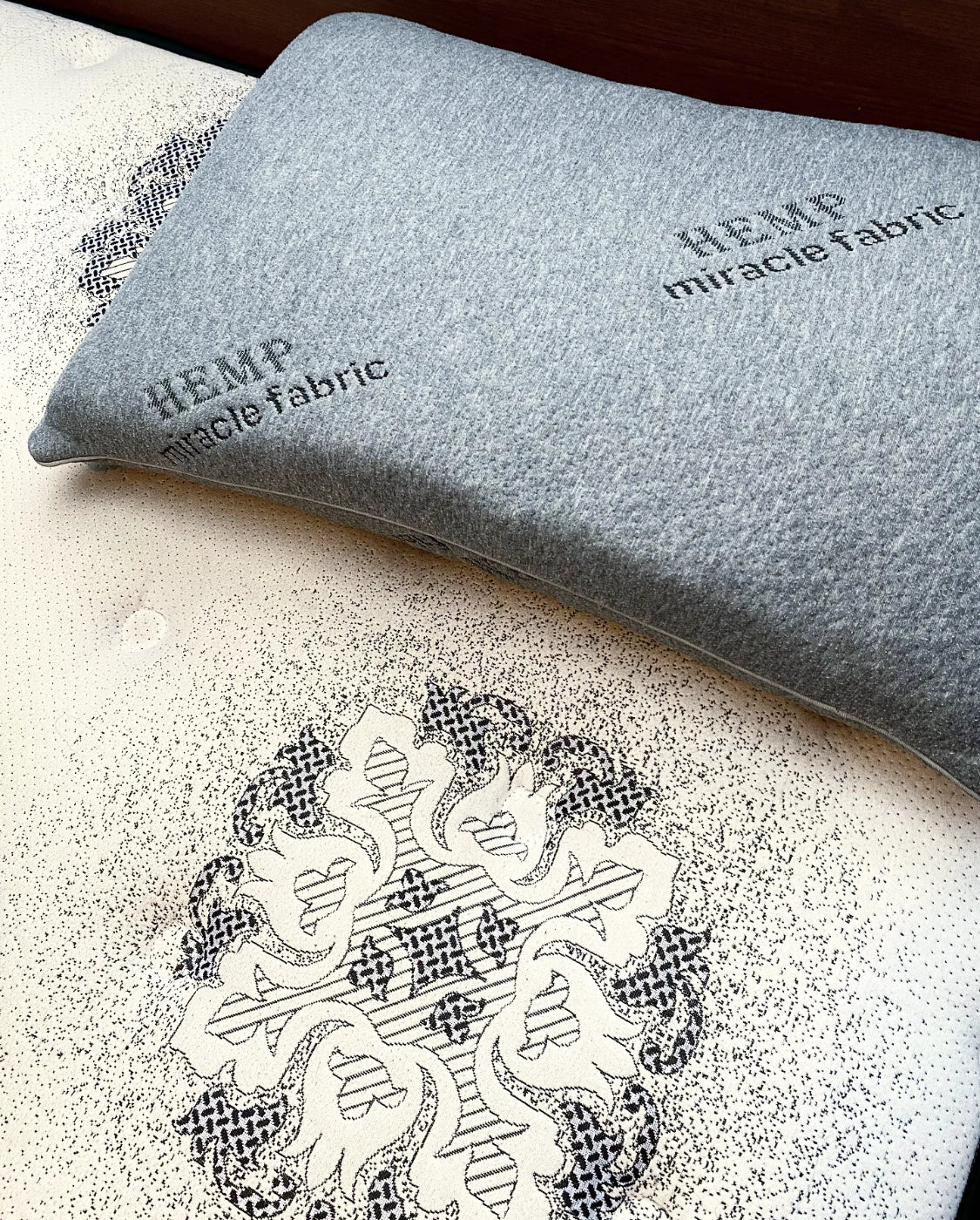 A photo of The Hmp Pillow and The Crown Series