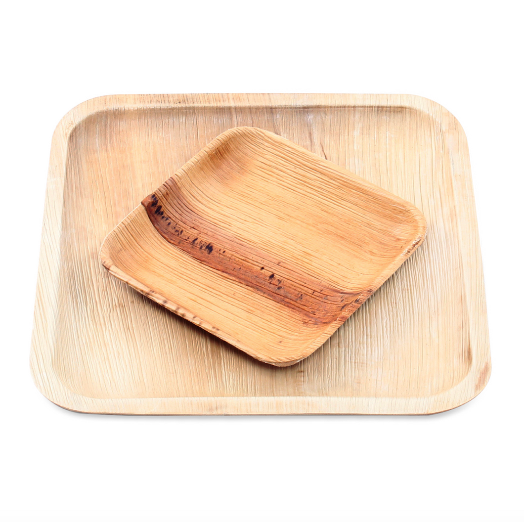 Areca Palm Leaf Plates - 25 Pack